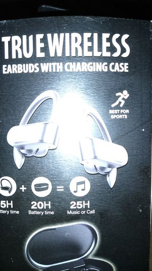 True Wireless Earbuds with charging case for Sale in Pasadena, TX