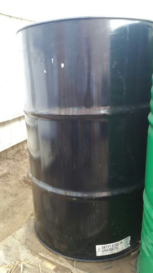 55gallon metal drums $15 each for Sale in Rancho Cucamonga, CA