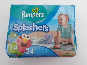 (2) Pampers Splashers Swim Diapers Size 3-4 (16-34 lbs) for Sale in Fairburn, GA