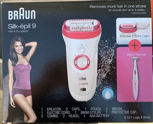 Braun wet and dry epilator for Sale in Glendale, CA
