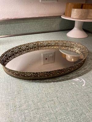 Vanity decorative mirrored tray for Sale in Cicero, IL