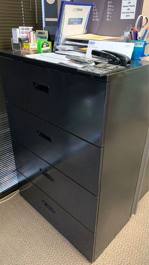 Black 4 shelf file cabinet for Sale in Mission Viejo, CA