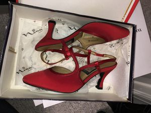 Nina Red Satin Pumps for Sale in Annandale, VA