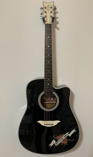 Black Acoustic/Electric Contemporary Style Guitar for Sale in Fort Lauderdale, FL