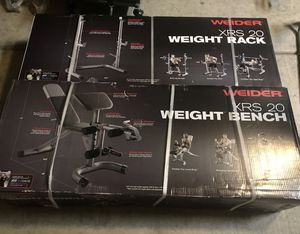 Weider XRS 20 Weight Bench and Squat Rack! New! Located in East Mesa near Signalbutte and Elliot for Sale in Mesa, AZ