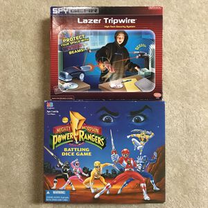 Power rangers and spy gear games toys for Sale in Burtonsville, MD