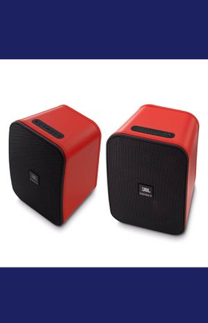 JBL Control X Wireless Portable Stereo Bluetooth Speakers, Pair - Red for Sale in Holly Springs, NC