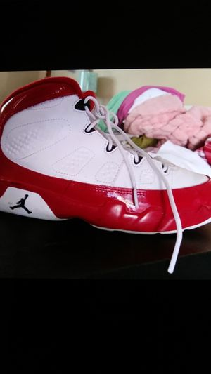 Jordans....size 2 1/2 red and white in big kids for Sale in Chattanooga, TN