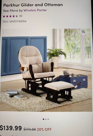 Rocking chair and ottoman for Sale in Denver, CO