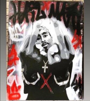 Custom Painting of Tupac. 36x48. Would make a great Xmas gift. Price reduced. for Sale in Mabelvale, AR
