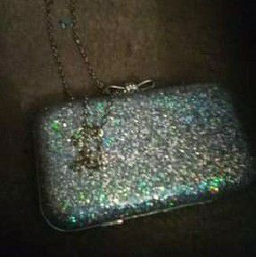 Charming Charlie Silver Purse for Sale in Gilbertsville, PA