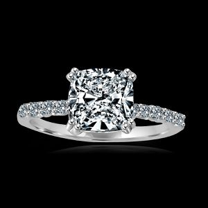 2CT(8x8mm) intensely Radiant Cushion Trio Wedding/Engagement ensemble Set Diamond Veneer set in Sterling Silver Ring 635R71391 for Sale in New York, NY