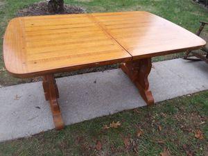 Heavy Oak Veneer Wood Table 6 Chairs for Sale in Lexington, KY