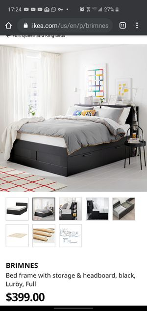 IKEA Brimnes full size bed frame for Sale in Seattle, WA