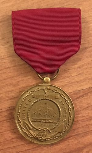 Navy Medal United States Constitution Fidelity Zeal Obedience w/ Maroon Ribbon - Military for Sale in San Diego, CA