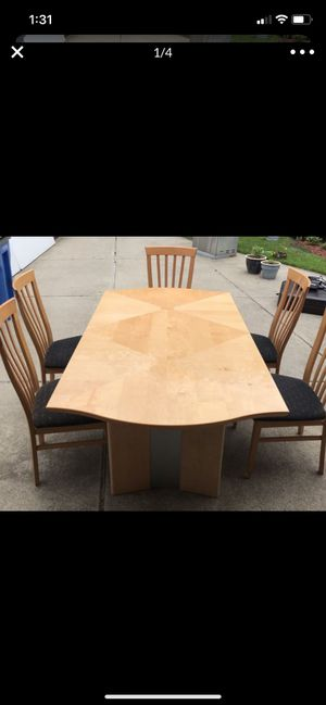 Dining Room Table - 5 Chairs - China Cabinet Set - ALL ITEMS MADE IN ITALY for Sale in Dearborn Heights, MI