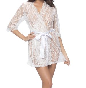 Sheer allover lace robe for Sale in Clarksburg, MD