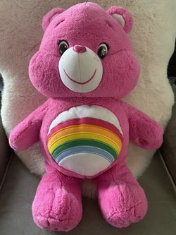 "CARE BEARS Cheer Bear 20"" 2015 JUMBO LARGE Soft Plush Rainbow Pink Stuffed Animal for Sale in San Ramon,  CA"