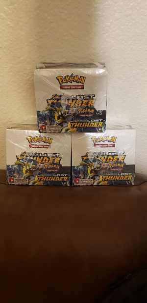 POKEMON SUN AND MOON LOST THUNDER BOOSTER BOX CHAMPIONS PATH for Sale in Mesa, AZ