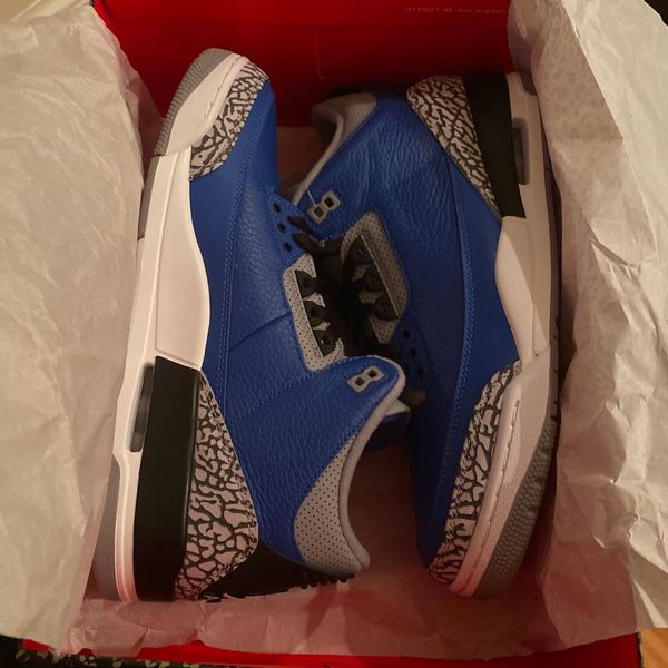 DS Nike Air Jordan 3 Royal Blue Cement - Size 11