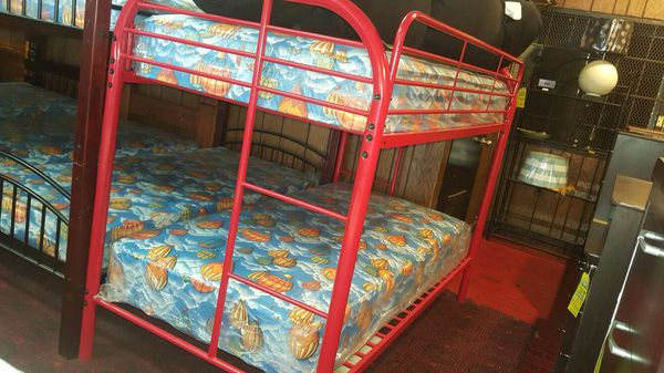 Twin over Twin Bunk Bed with bunkettes