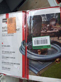 Natural Gas Conversion Kit For BBQ Grill for Sale in Apple Valley, CA