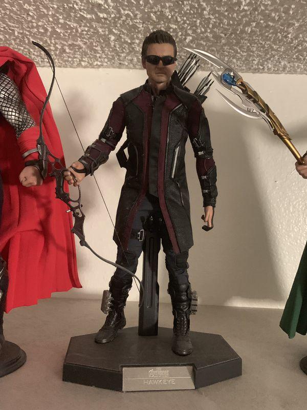 Disney Hot Toys The Avengers Action figures Iron Man Thor Captain America Loki Hawkeye