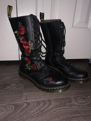 Women's Dr. Martens Embroidery Vonda 14 Eye Boot - Size 10 for Sale in Leesburg, VA