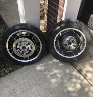 Set of wheels and tires from my motorcycle 2010 Harley-Davidson for Sale in Humble, TX