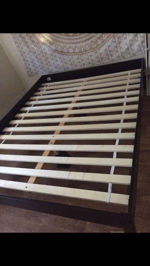Queen platform bed frame and full size futon for Sale in Jacksonville, FL