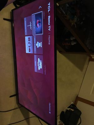 55 inch 4K TCL Smart TV with ROKU included for Sale in Seattle, WA