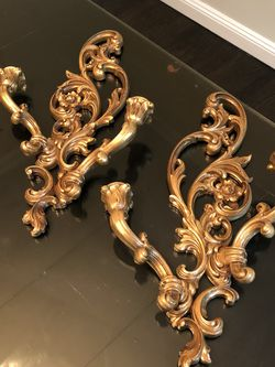 Antique Gold Candle Holders (set) for Sale in New York,  NY