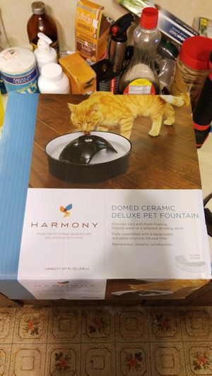 Domed ceramic deluxe pet fountain for Sale in Monrovia, MD