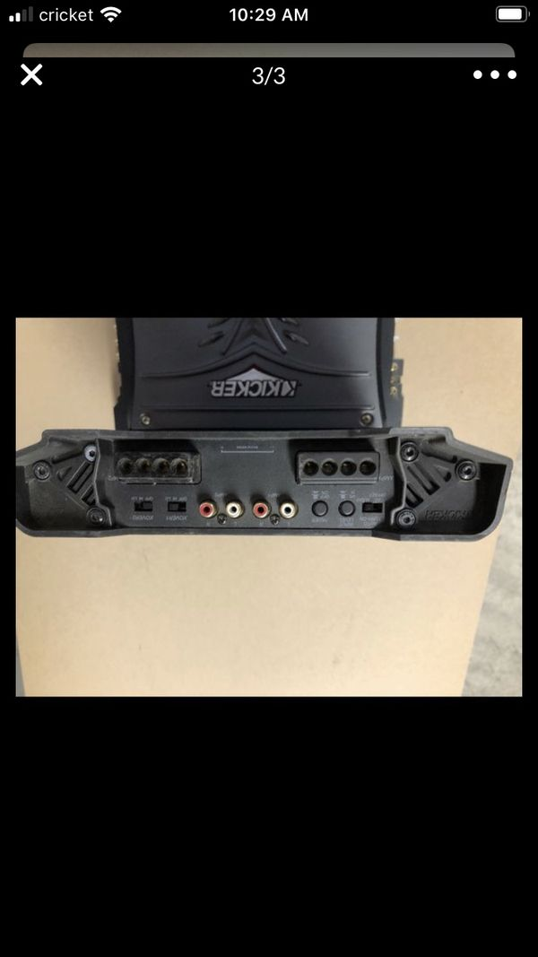 Kicker ZX 350 4 channel amplifier
