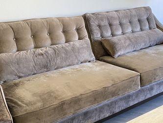 Z Gallerie Harrison Sofa In Gray Velvet for Sale in Sylmar,  CA