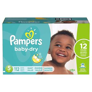 Pampers Baby Dry Diapers Size 5 112 Count Diapers for Sale in Las Vegas, NV