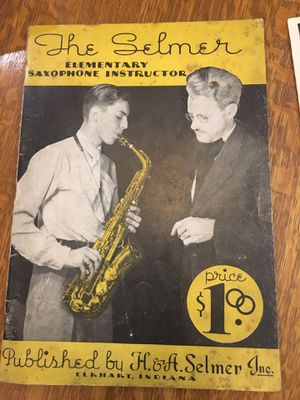 1930's The Selmer Saxophone 66 page elementary tutorial for Sale in Pittsburgh, PA