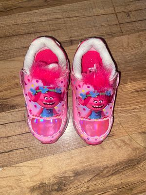 Trolls girls size 7 toddler shoes for Sale in Columbus, OH