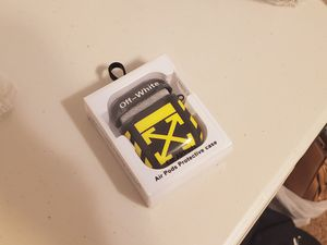 Yellow black Off white airpods case for Sale in Riverside, CA