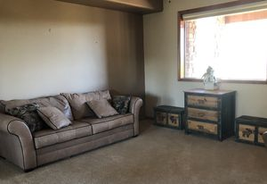 Leather Queen sleep sofa for Sale in Young, AZ