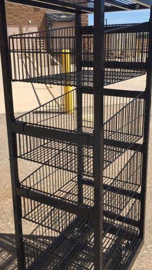 5ft commercial bin/shelving 90$ obo: metal for Sale in Denver, CO