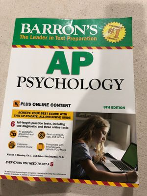 Barron's AP Psychology 8'th edition for Sale in Waxhaw, NC