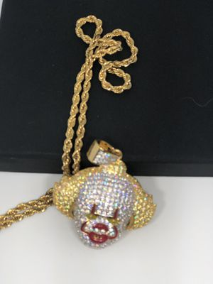 IT clown 24k gold rope chain for Sale in El Paso, TX