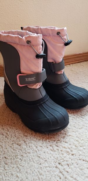 Totes girls winter/snow boots size 1 for Sale in Lacey, WA