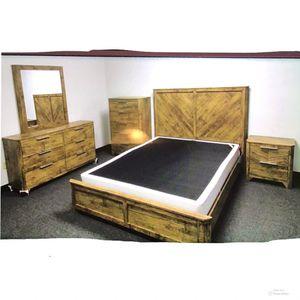 New!! Bed,2 Drawer Nightstand,Herringbone Bedroom Set, Furniture,5Pc Bed Set,Queen Bed,Dresser&Tall Chest,Platform Bed-QUEEN SIZE for Sale in Phoenix, AZ