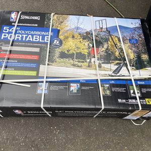 "Spalding NBA 54"" Portable Angled Basketball Hoop with Polycarbonate Backboard for Sale in East Windsor, NJ"