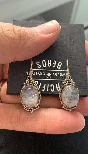 Rainbow moonstone healing crystal earrings for Sale in Lakeside, CA