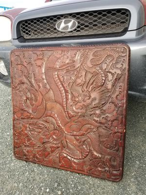 Ornate hand carved tabletop. Japanese dragon and cloud theme for Sale in Oakley, CA