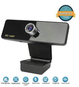 Webcam with Microphone, 1080P HD Webcam Streaming Computer Camera, USB Webcam with Wide Angle Lens & Large Sensor for PC Laptop Desktop Video Calling for Sale in Winter Garden, FL