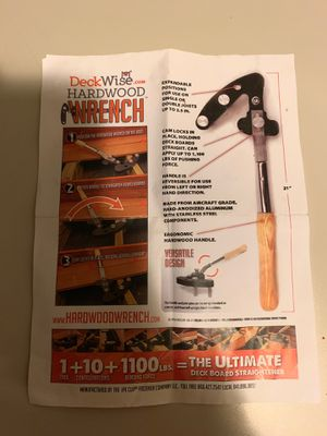 Deck wrench for Sale in Dinuba, CA